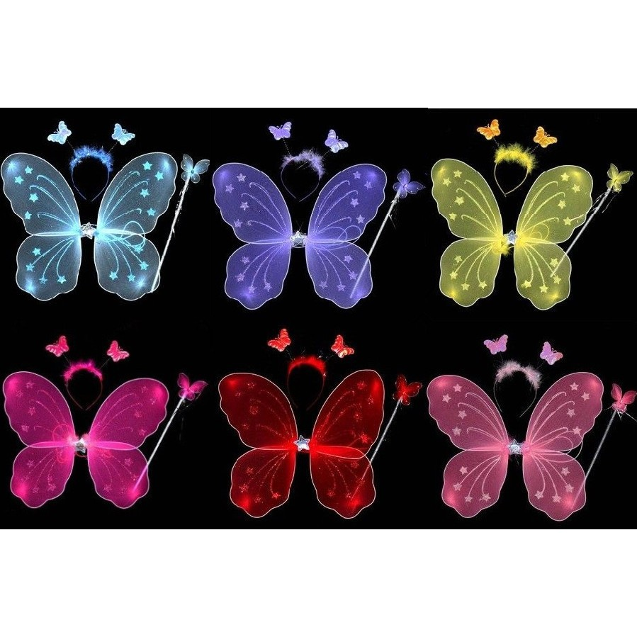 kabe 攝12 兒童攝影服裝服飾演出表演道具影樓百天寶寶蝴蝶天使翅膀三件套 零售版媽