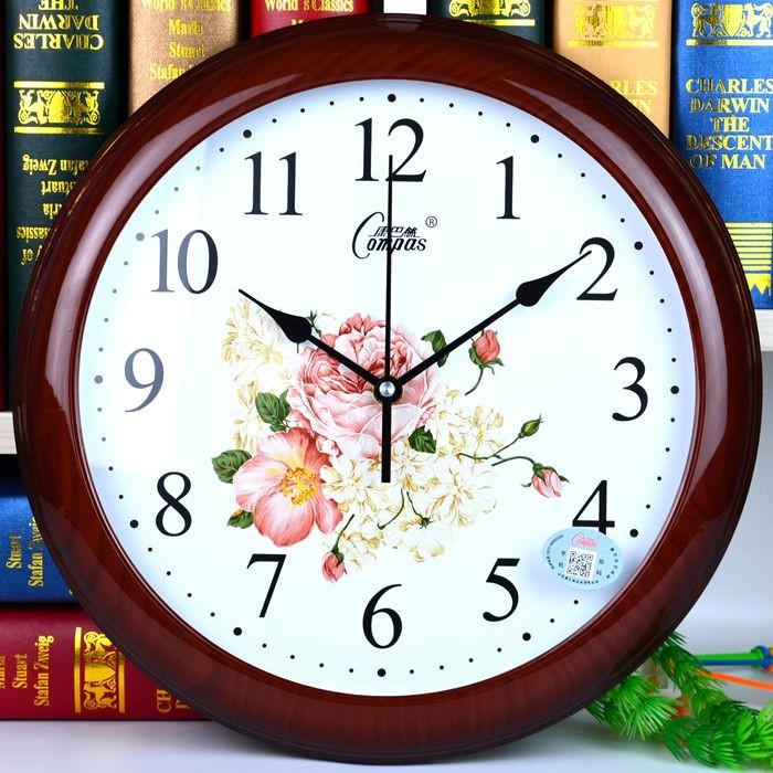 歐式靜音鐘表 簡約 掛鐘客廳臥室掛表復古時鐘 石英鐘表