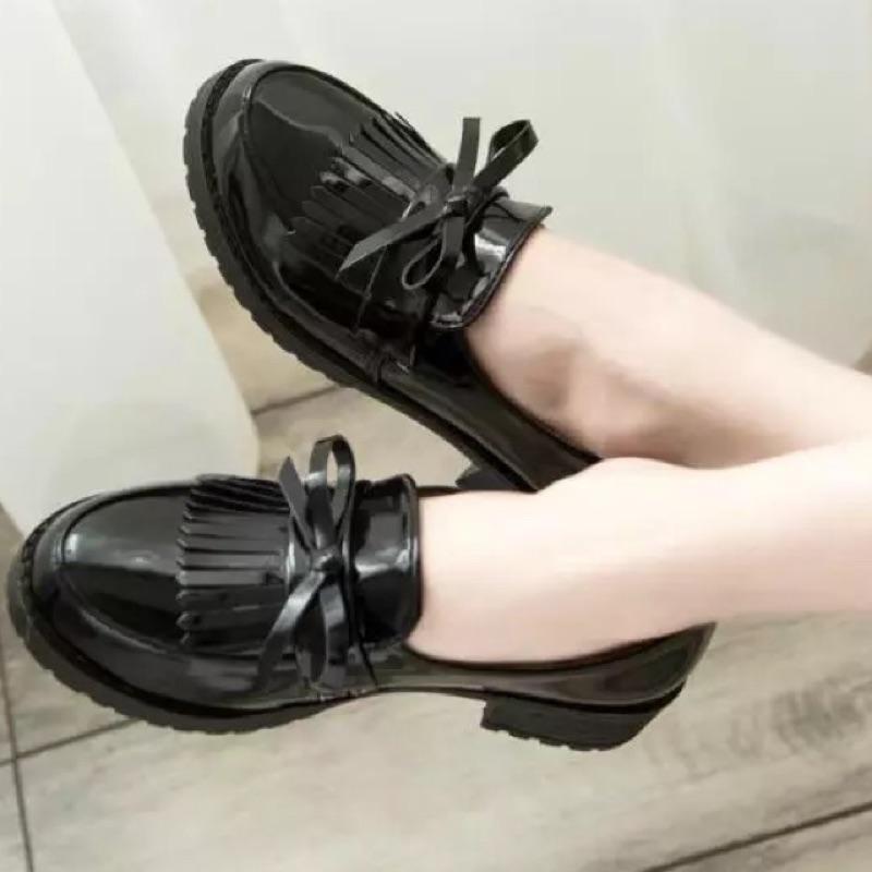 英倫復古福樂鞋皮鞋平底粗跟大 兩個世界雲畫的月光步步驚心麗 好