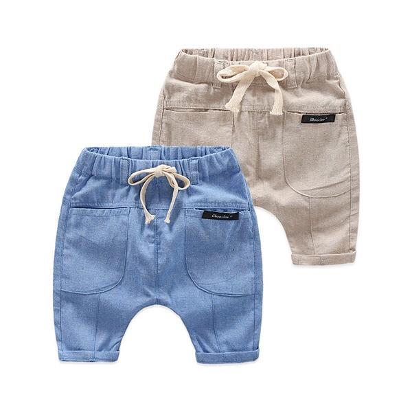 E1988 韓系男寶寶男童短褲夏款兒童透氣百搭五分褲休閒褲kz 9835 MAMA 咪呀