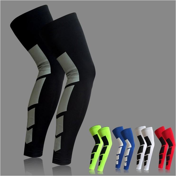 登山露營愛好者的評選壓縮 彈力路跑馬拉松護具加長護小腿 護膝籃球護腿雙色腿套排球透氣護具