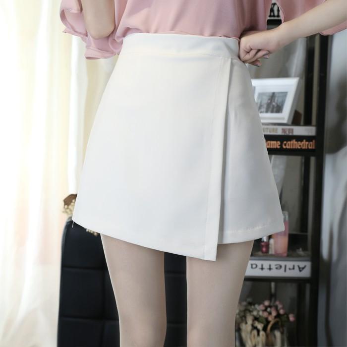 半身裙春夏 短裙 高腰裙子顯瘦包臀裙 學生不對稱A 字裙