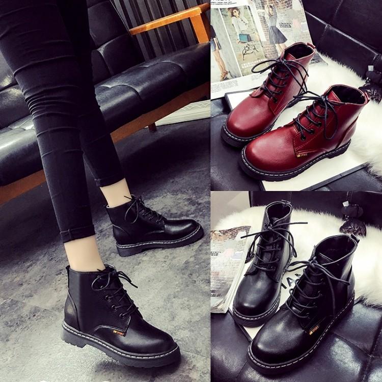 ~印象閣樓~✨ 女靴學院風 英倫女鞋學生單鞋馬丁靴子內增高短靴皮靴