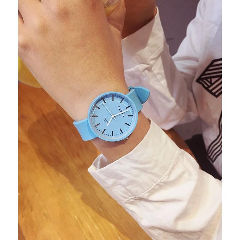 ✨HelloBerry ✨送錶盒原宿风 日系軟妹男女對錶情侶手錶石英錶硅膠果凍表休閒簡約