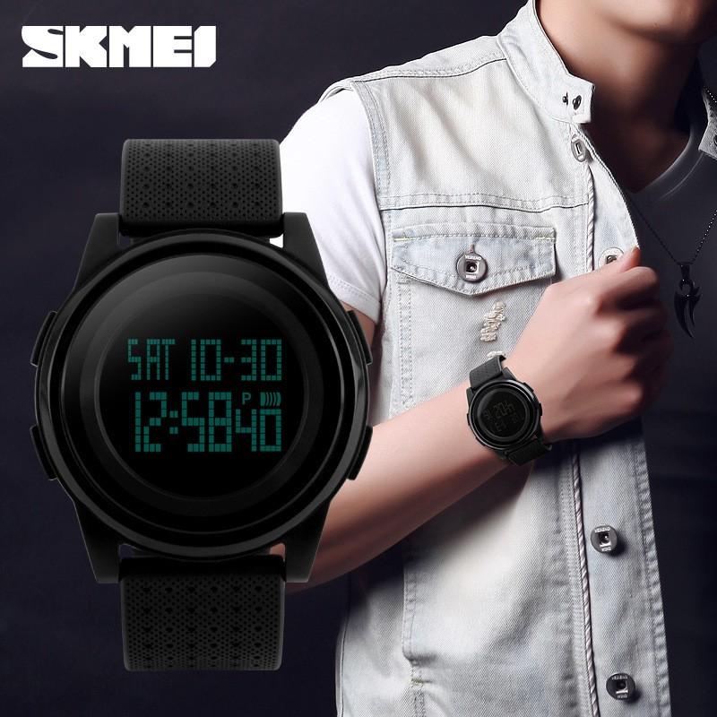 爆款時刻美LED 學生 防水電子錶女表 情侶大錶盤女表