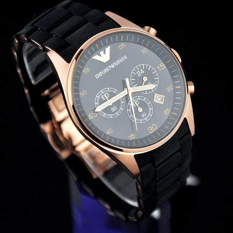 ~兩隻~ 盒裝亞曼尼石英手錶阿瑪尼Armani 手錶男士玫金紳士腕錶男女情侶對錶全店滿2