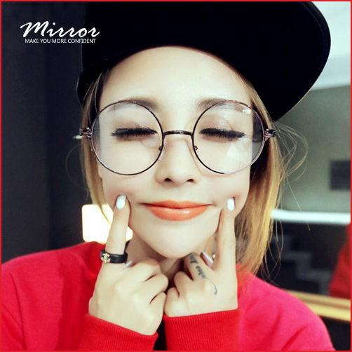 2833 復古文青系眼鏡日韓風金屬細框 太子鏡文藝 百搭小清新圓形鏡框
