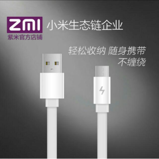 ZMI 紫米AL600 便攜傳輸線充電線數據線長度100CM Micro USB 安卓手機