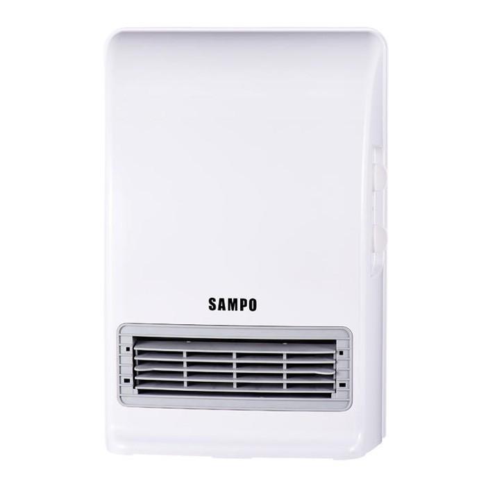 限宅配無法超取SAMPO 聲寶可壁掛陶瓷防潑水電暖器HX FN12P ~浴室臥房兩用 ,兩