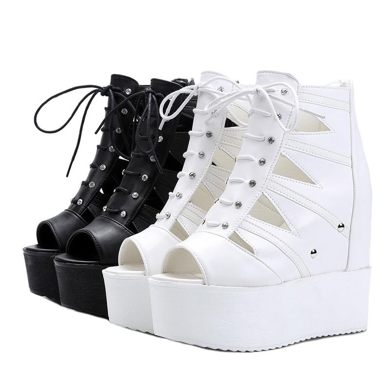 USUN ®~女鞋系列~~潮流前線~羅馬 聚氨酯防水台超高跟女涼鞋35 39