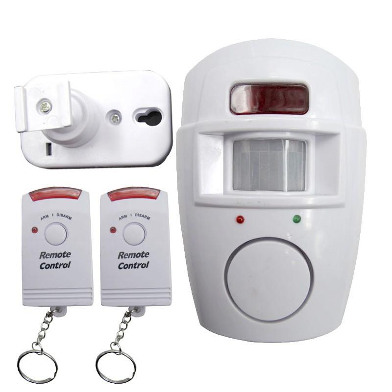 無線紅外感應探測器,帶2 只遙控器系列家庭辦公室門窗防盜報警器安全系統白