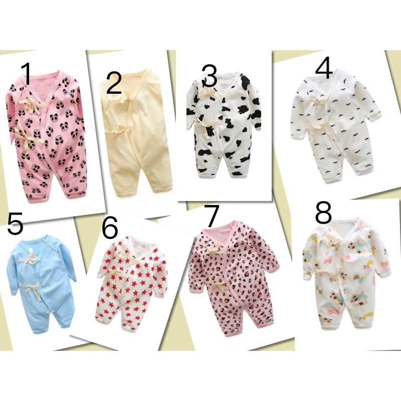 嬰兒衣服純棉連體衣 新生兒哈衣男寶寶睡衣嬰幼兒開檔外出服