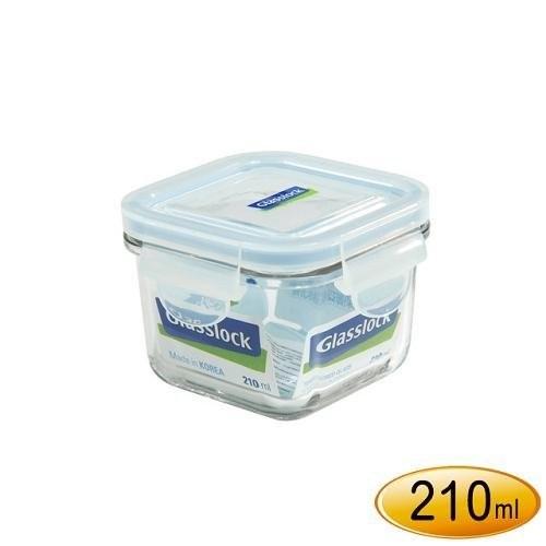 省錢工坊韓國 Glasslock 強化玻璃保鮮盒210ml ~RP545 ~正方型微波便當