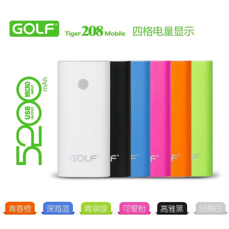 ❣️ ❣️高爾夫GOLF Gf208 輕巧磨砂行動電源5200 毫安輕薄離電子充電寶蘋果H