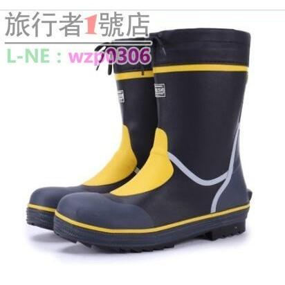 中矮筒男士防砸鋼包頭橡膠男式安全耐磨雨鞋雨靴水鞋套鞋