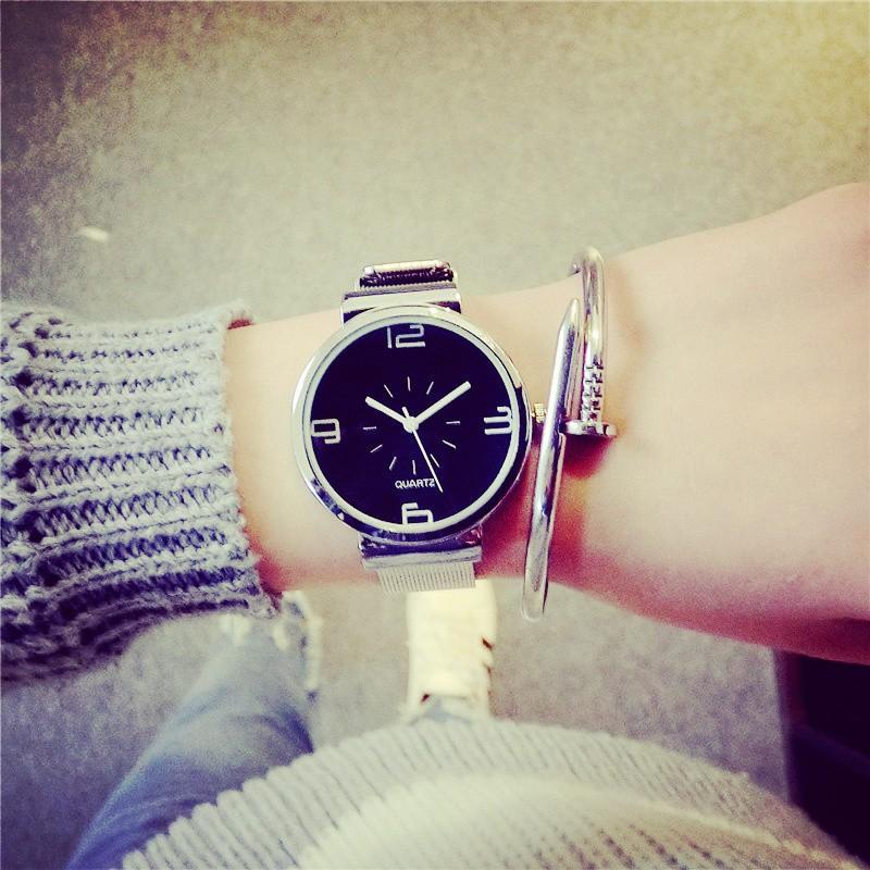 ~~ 風~~韓國手表森女款學生 簡約潮流鋼鏈復古 小清新超薄手錶 手錶女生 男生 手錶首飾