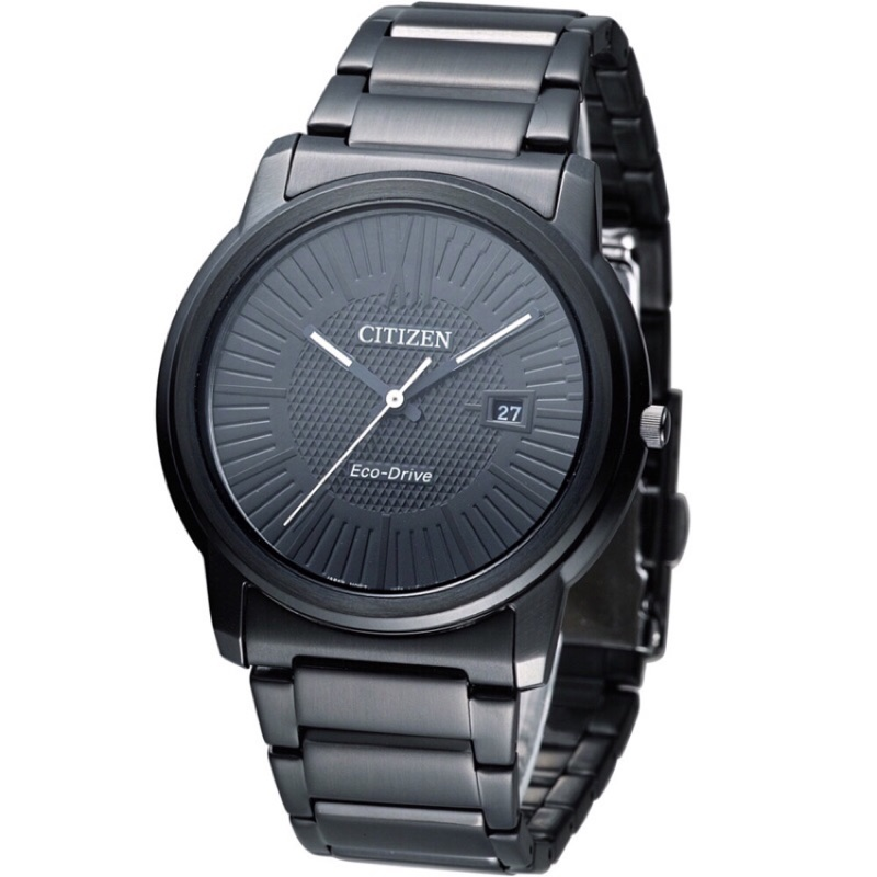 CITIZEN 星辰Eco Drive 光動能 簡約概念 腕錶AW1215 54E FE6