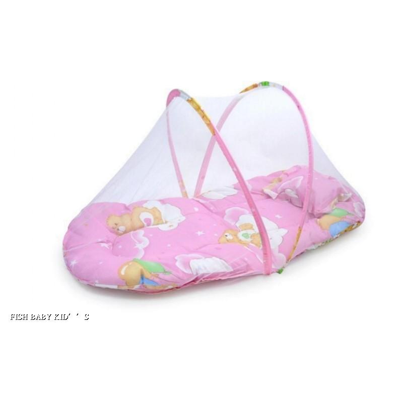 嬰兒蚊帳罩寶寶蚊帳嬰兒床蚊帳罩免 蒙古包可折疊兒童床帶枕墊