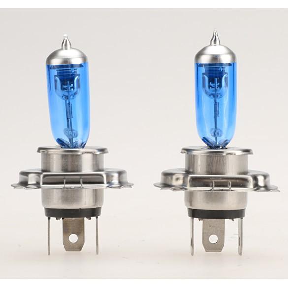 2 個12V H4 氙100W 鹵素燈亮白大燈燈泡8HOT 燈車6000K