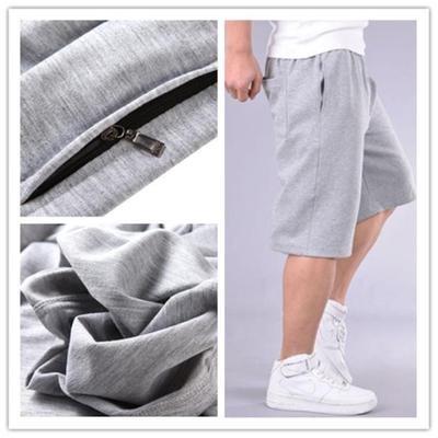 加肥加大碼短褲男士特大碼純棉胖子針織 五分褲中褲