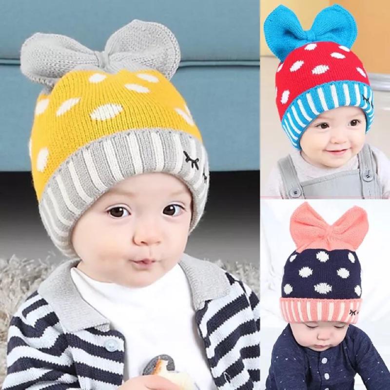 冬款❄️點點蝴蝶結毛帽