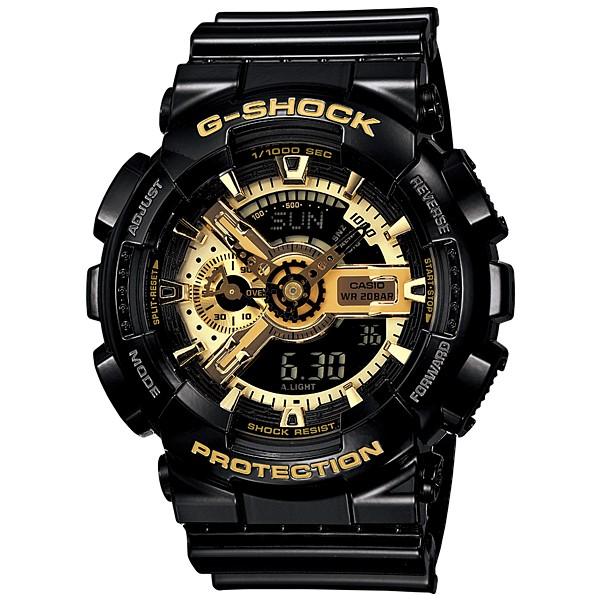 衝 亂賣CASIO G SHOCK 手錶電子錶潮流單品卡西歐黑金重裝潮流GA 110GB
