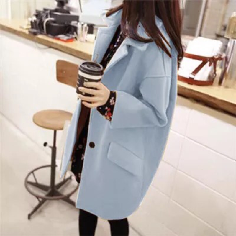 ( )女裝 羊絨大衣毛呢外套 中長款外套