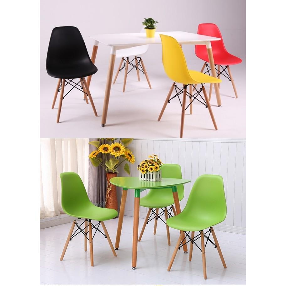 北歐復刻DSW 餐椅Eames chair 簡約伊姆斯椅ABS 加厚更堅固耐用黑白紅黃綠色