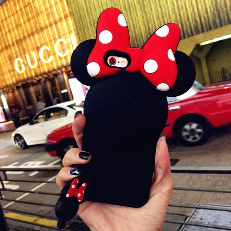 韓國米妮背影6s 手機殼iPhone6 plus 矽膠掛繩4 7 蝴蝶結5 5 女送掛