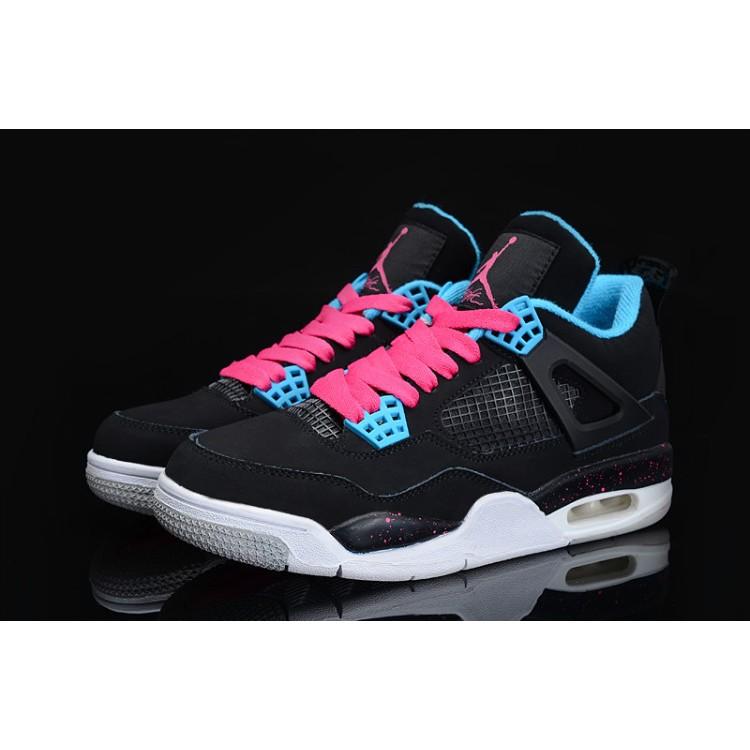 NIKE AIR JORDAN 4 RETRO GS AJ4 南海岸黑粉籃球鞋 鞋
