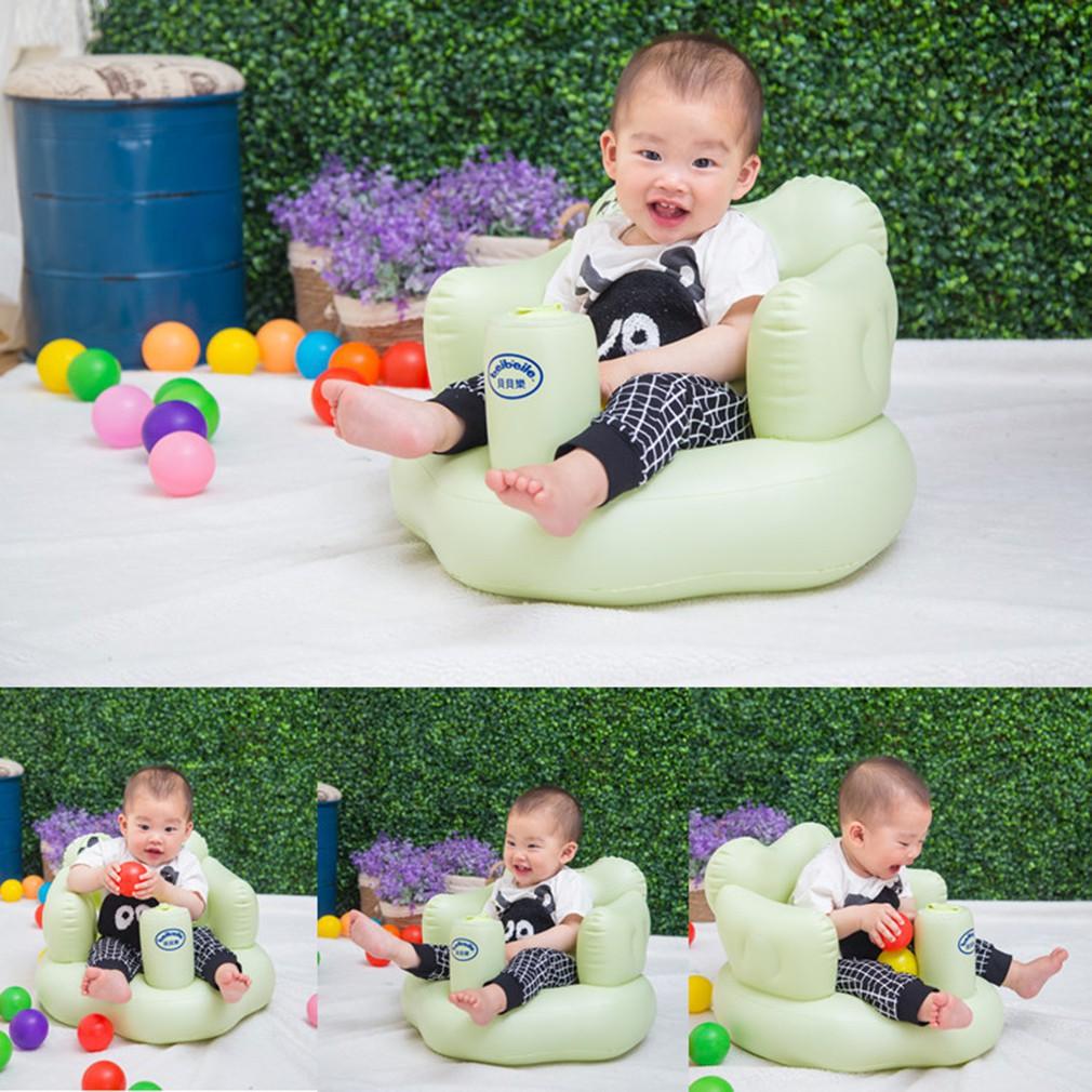 寶寶充氣沙發嬰兒加厚多 學坐椅餐椅便攜式安全靠背浴凳座椅墊