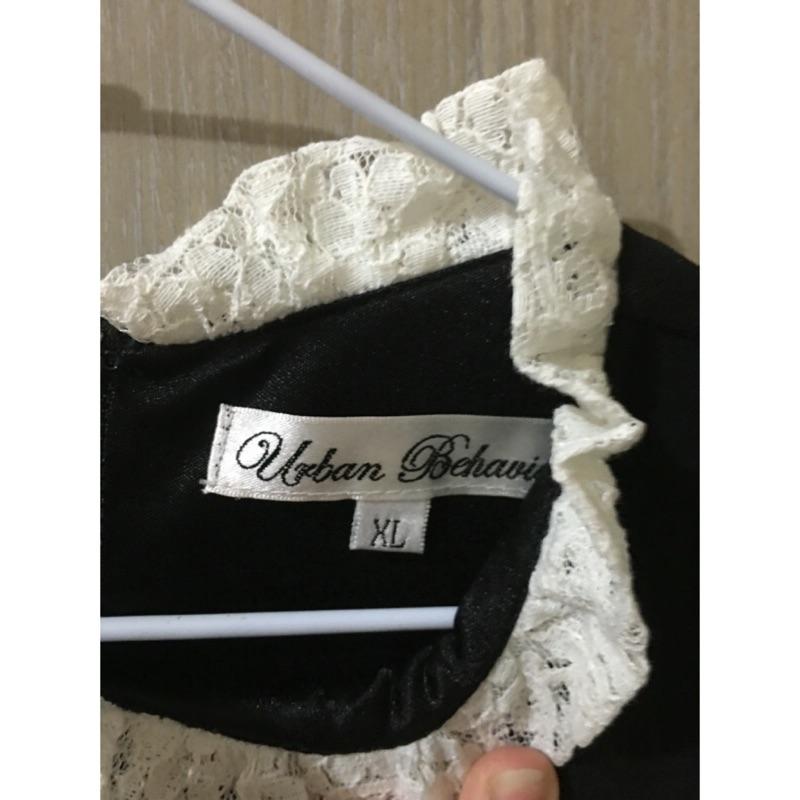 ❤️黑色連身裙xl 白色蕾絲高領氣質七分袖秋裝 790  150