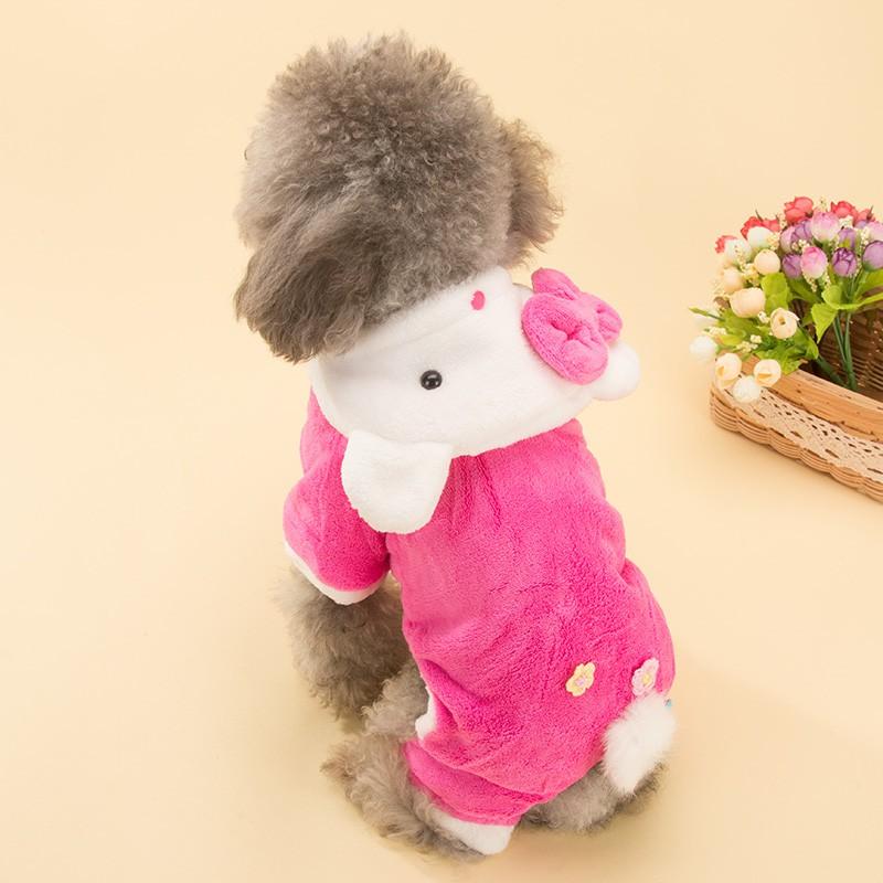 sweet cream 定制hipi 可愛貓寵物四腳衣小狗狗泰迪貴賓比熊衣服小型犬幼犬棉衣