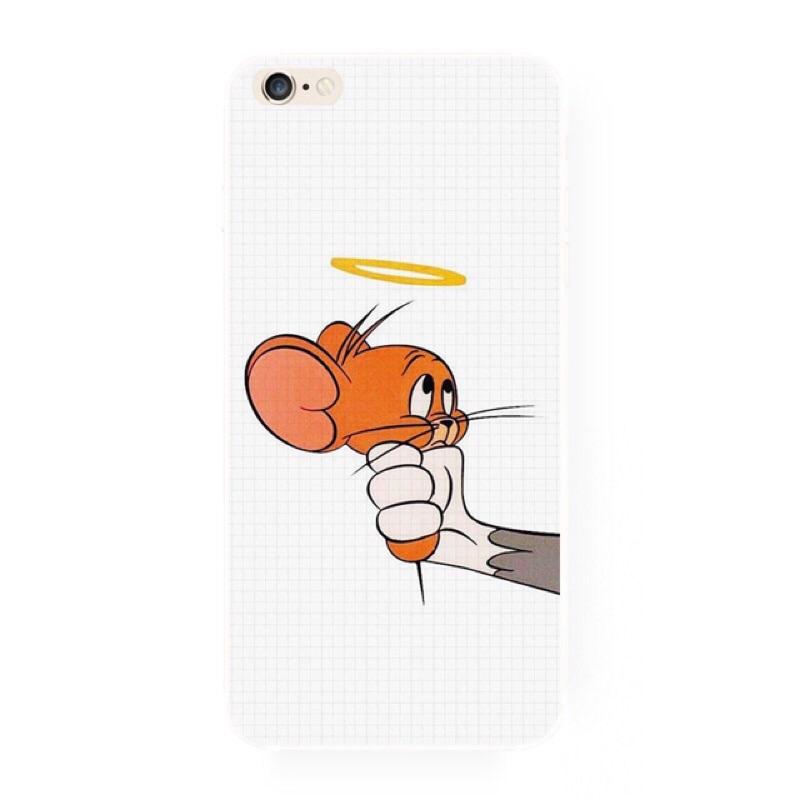 NO 185 湯姆與傑力傑立鼠手機殼iPhone6 5 6 6s not 三星htc 來圖