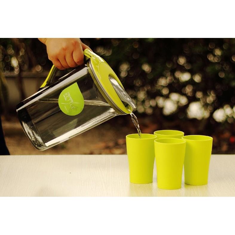 水杯套裝送杯子2000CC 耐熱塑料冷水壺大容量1500cc 豆漿果汁花茶壺家用帶蓋涼水壺
