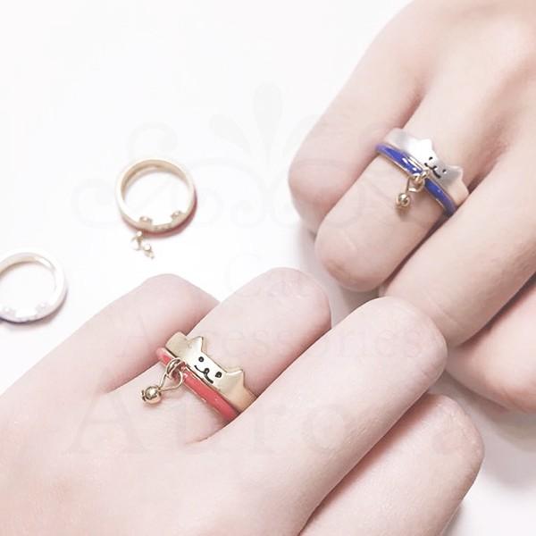 我是貓奴~ 實拍自留款超 貓咪項圈雙環對戒兩色可拆卸兩用鈴鐺戒指手鍊手環水鑽愛心寵物頸圈招