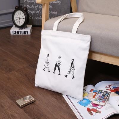 文藝帆布包學生單肩包手提包女包字母帆布袋~Trend Fitch