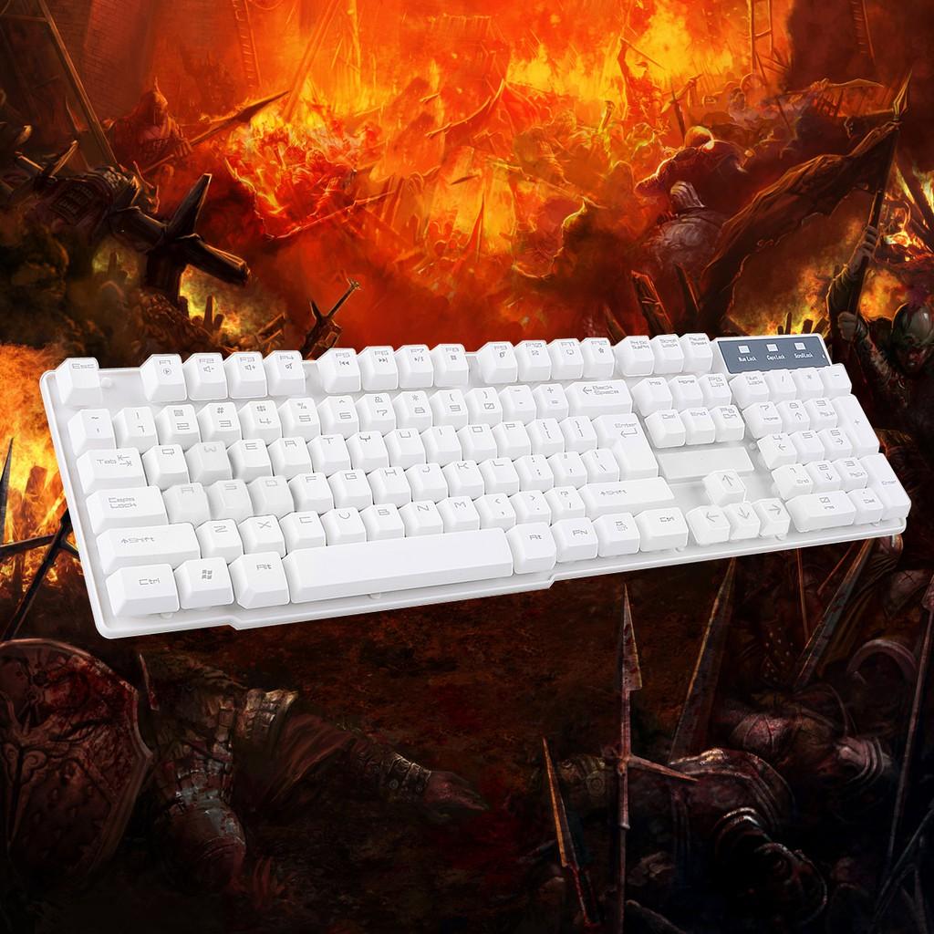 劍聖一族K1 懸浮式按鍵機械手感鍵盤遊戲鍵盤–白色