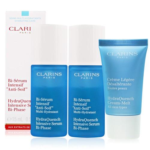 CLARINS 克蘭詩水潤奇肌保濕精華15mlx2 送保濕水凝霜清爽型15ML CLA70