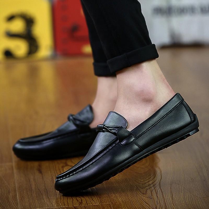 男皮鞋懶人鞋休閒鞋 鞋英倫鞋皮鞋球休閒鞋子休閒皮鞋 鞋子 皮鞋 豆豆鞋樂福鞋男士皮鞋 20