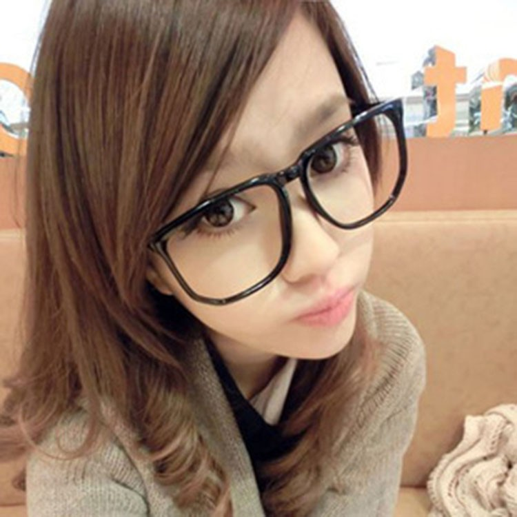 日韓 館復古大黑方框平光眼鏡框潮男女款小臉眼鏡韓國 氣質 眼鏡韓風 鏡框太陽眼鏡瘦臉大黑框