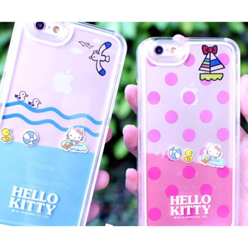 Hello kitty 流動液體手機殼iphone6 6plus 保護套