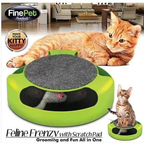 快樂豬~貓抓老鼠玩具盤~貓咪益智遊戲盤寵物貓玩具貓抓老鼠盤貓捉老鼠轉盤無影鼠逗貓盤還有三層