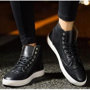 121 051 馬丁靴男靴英倫工裝短靴沙漠靴子男士棉鞋雪地軍靴皮高筒 男鞋黑色39