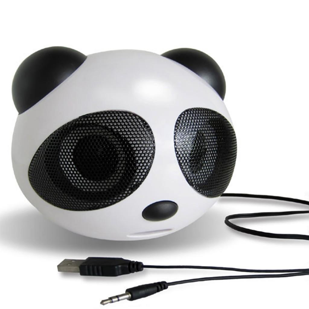 迷你熊貓 USB 2 0 便攜式有源音箱立體聲揚聲器的筆記本電腦桌面手機
