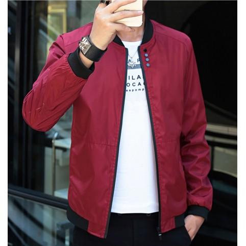 爆款 薄款夾克男士修身青年立領外套 上衣棒球服潮