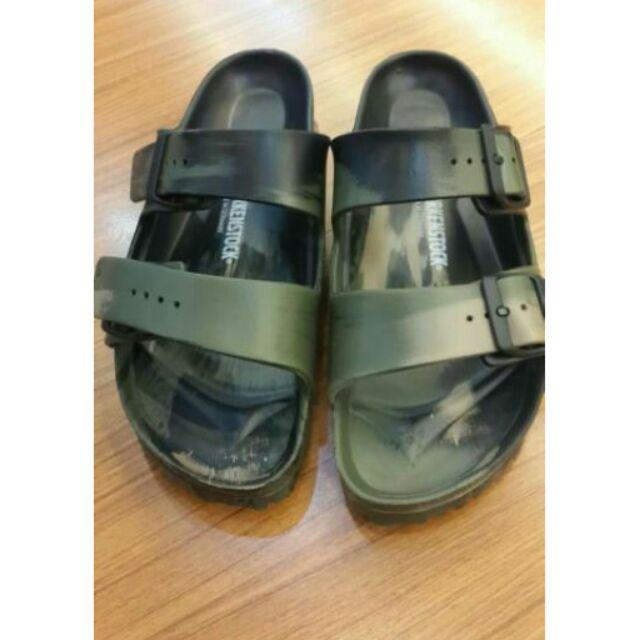 新色上市勃肯eva 迷彩鐵灰古銅防水拖鞋Arizona 雙瓣