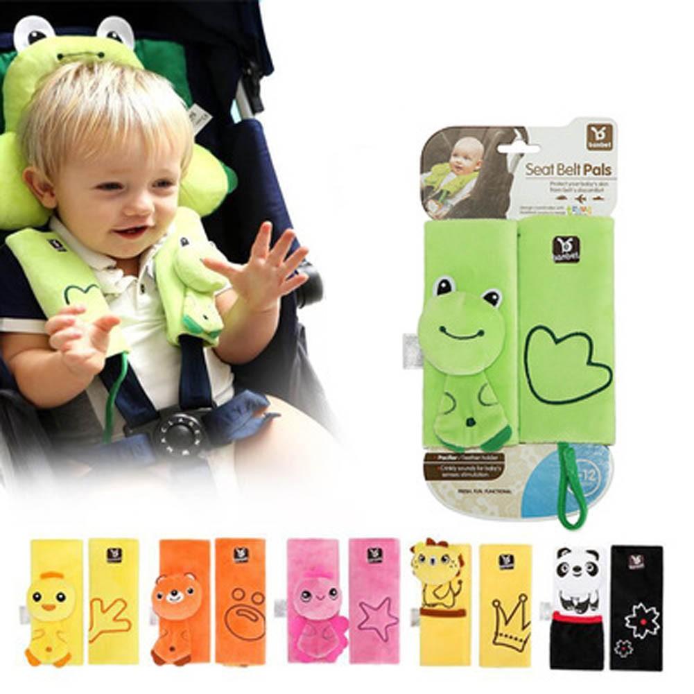 凡庫以色列寶寶嬰兒車幼兒車防磨傷安全帶墊保護套安全帶動物 安全帶固定套肩帶護套安全汽座嬰兒
