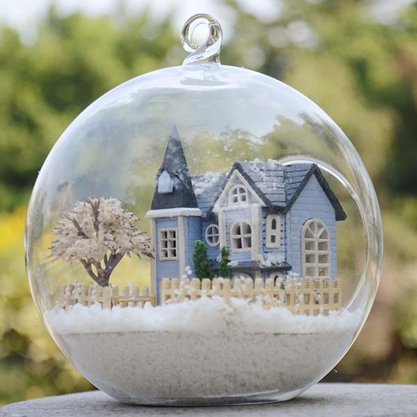 ~BOGO 小屋~~夢幻DIY 玻璃球~童話家園日式懸掛玻璃球Mini 袖珍屋娃娃屋小藝品