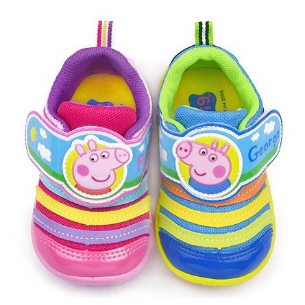 滿月舖童鞋2016 年Peppa pig 佩佩豬粉紅豬小妹與喬治男女童透氣 鞋 MIT 3